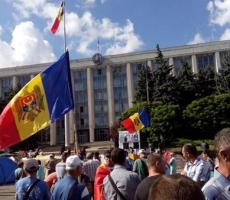 Митингующие в Молдове снова проводят протестные акции в центре Кишинева