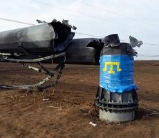 Начались работы по ремонту опоры линии электропередач, по которой подается электроэнергия в Крым