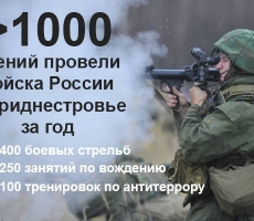 Войска РФ в Приднестровье провели более тысячи учений за 2015 год