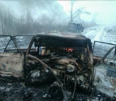 Автомобиль с украинскими военными взорвался в Луганской области