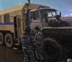 Под Каспийской взорвали полицейский автомобиль