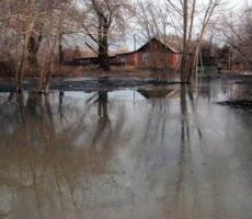 Омскую область затопило талой водой