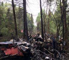 В Подмосковье разбился военный самолет, летчик погиб