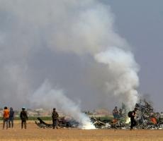 В результате падения российского вертолета в Сирии, погиб весь экипаж