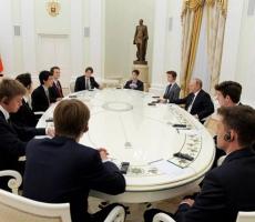 Путин встретился с будущей британской элитой