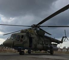 Российский Ми-8 обстрелян боевиками в Сирии