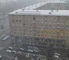 Аномальный снегопад в Москве создал пробки на дорогах