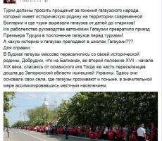 Виктор Шелин: гагаузы унизились перед турками