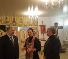 Сергей Бабурин помолился в храме Пресвятой Богородцы в Тольятти