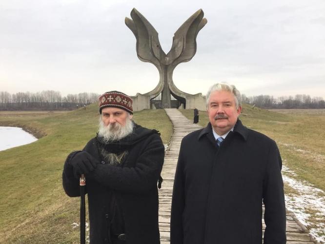 Сергей Бабурин посетил сербский монастырь